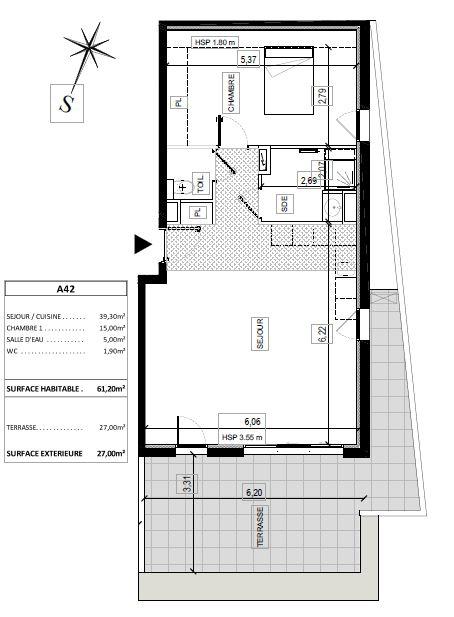 Plan appartement dernier étage