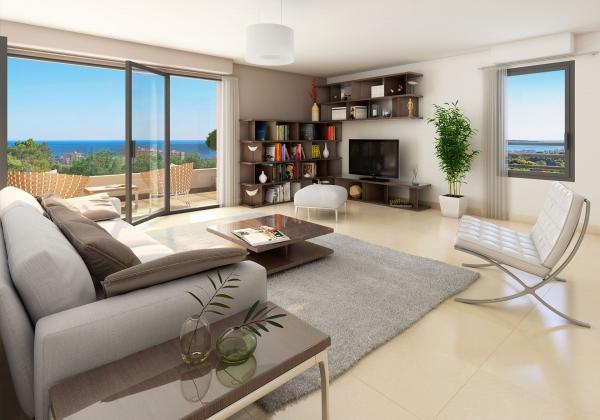 intérieur appartement neuf vue mer