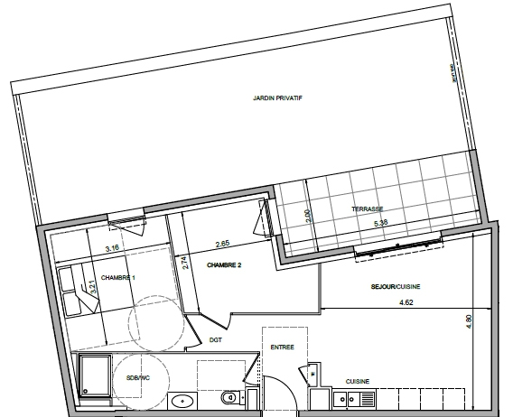 plan appartement neuf Antibes  T3